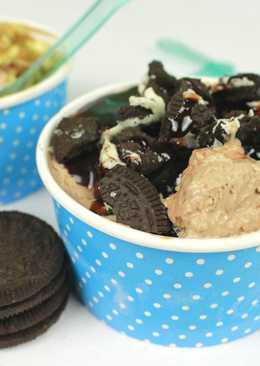 Шоколадный замороженный йогурт. Frozen Yogurt с шоколадом