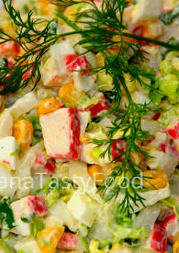 Салат из крабовых палочек и пекинской капусты