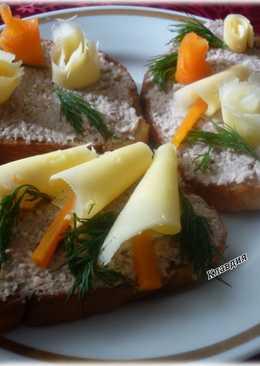 Быстрые бутерброды к завтраку