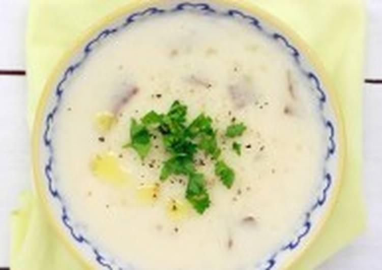 Крем-суп с картофелем и сливками