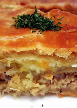 Двухслойный рыбный пирог- интересный и вкусный рецепт
