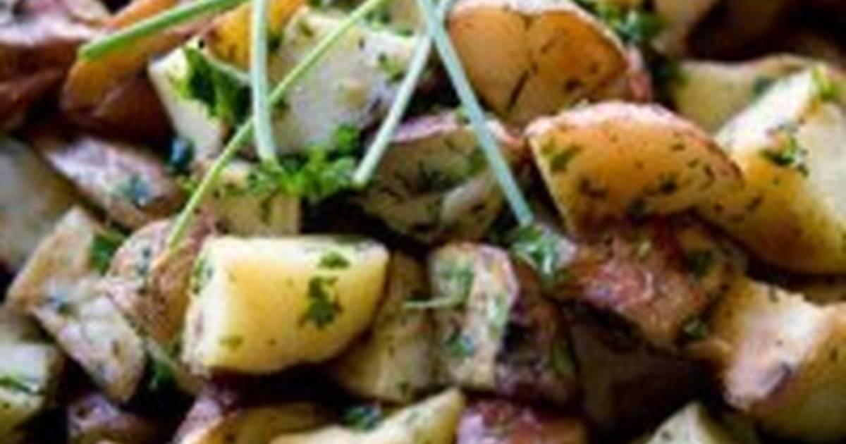 Картошка со свежими шампиньонами