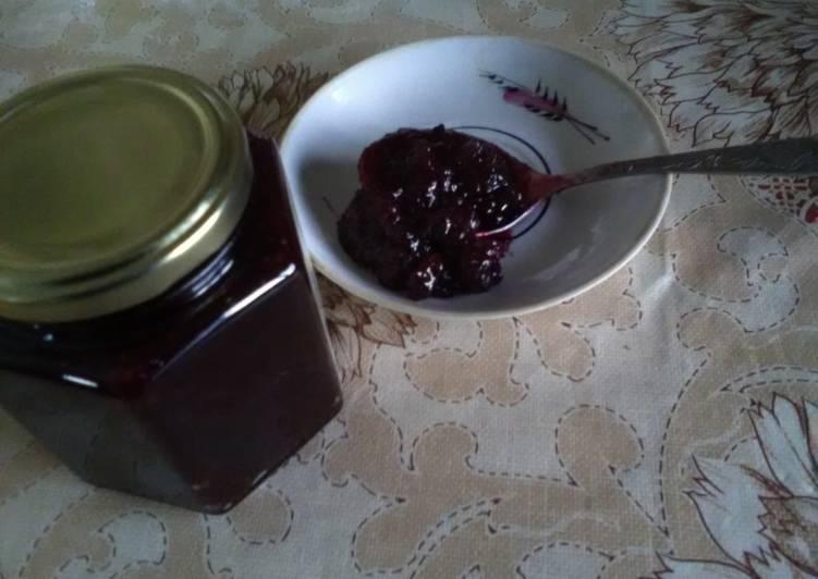 варенье брусника с яблоком
