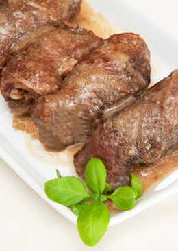 Мясные крученики (рулетики) с грибами