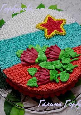 """Торт """"Сникерс"""" в тематическом оформлении"""