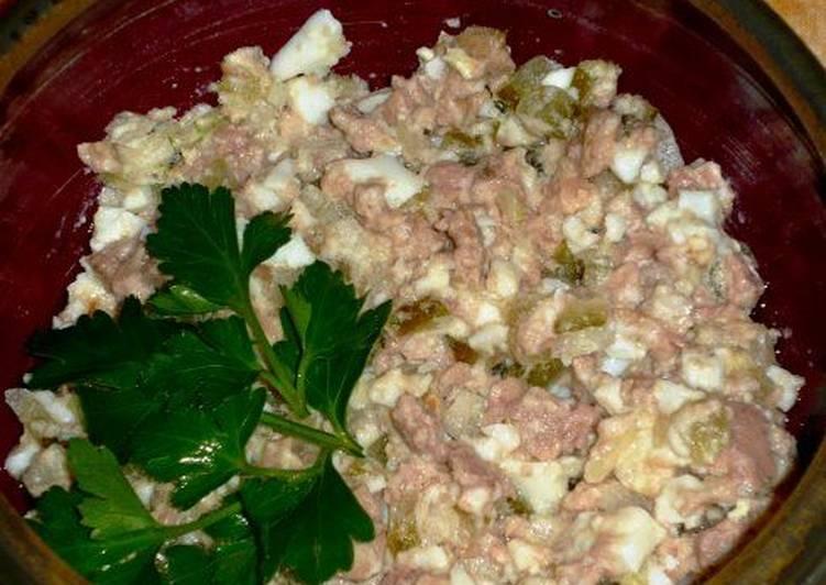 Салат с тресковой печенью рецепт