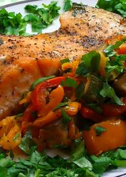 Рыба с овощами в духовке, рецепт