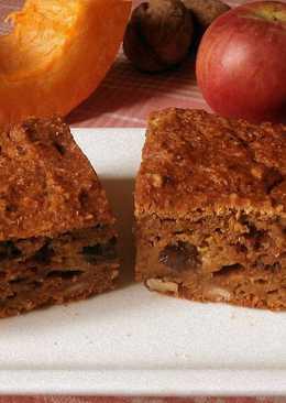 Легкий тыквенный пирог с яблоком