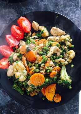Куриная грудка с овощами #чемпионатмира#франция