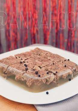 Холодец из говядины на желатине - cамый простой и вкусный рецепт