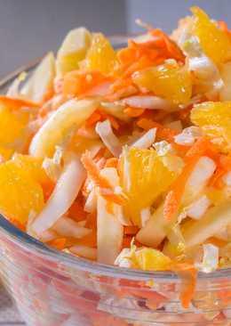 Салат с пекинской капустой и апельсином, без майонеза