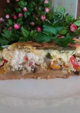 Пирог с грибами и соленым сыром #чемпионатмира#франция