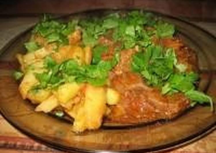 Тушенная говядина с картофелем