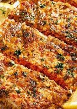 Праздничный лосось в чесночно-медовом соусе