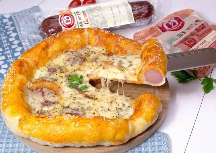 Пицца с бортами из сосисок по-Черкизовски