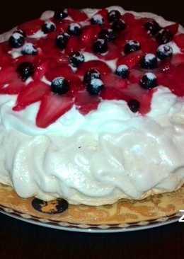 """Знаменитый торт-безе,названный в честь балерины Анны Павловой!! десерт """"ПАВЛОВА"""""""