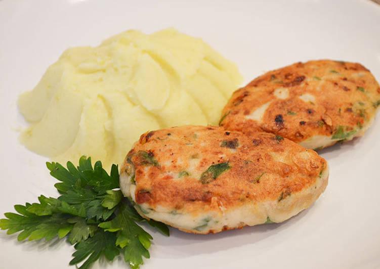 Куриные котлетки с болгарским перцем и петрушкой