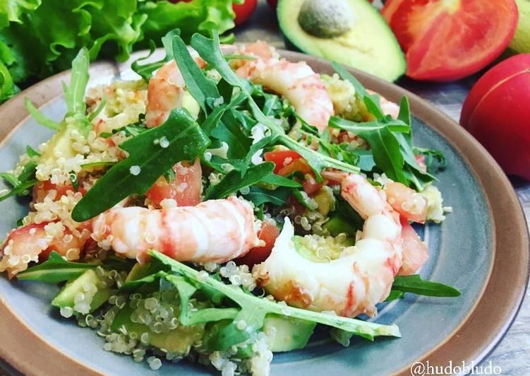 салат с креветками и киноа пошаговый рецепт с фото автор рецепта
