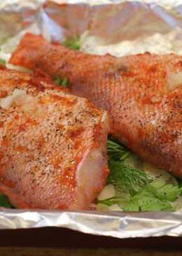 Окунь морской красный - рецепт в духовке