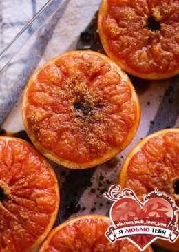 Запеченный грейпфрут с корицей и коричневым сахаром. Жиросжигающая бомба
