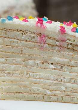 Превосходный Блинный Торт со Сметанно-творожным Кремом