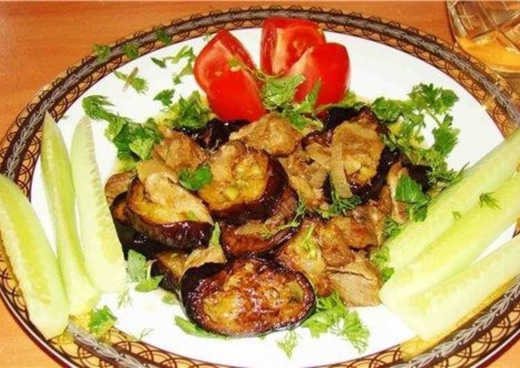 Баклажаны жареные с мясом