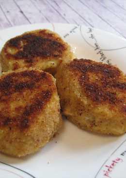 Картофельный котлеты с курицей и сыром