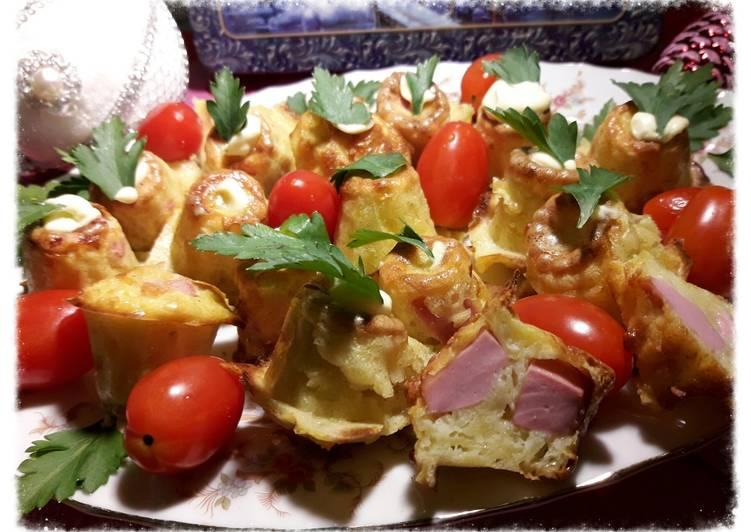 Картофельные каннеле с докторской колбасой Ремит