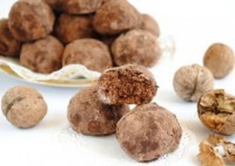 Орехово-шоколадные трюфели