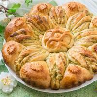 Праздничный пирог с картофелем и сыром