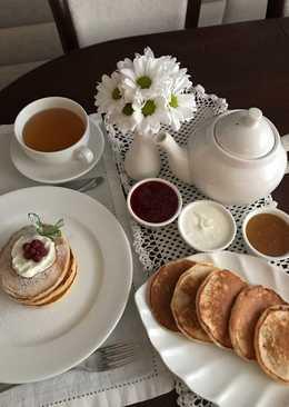 Ряженка-творожные панкейки-оладушки или завтрак за 10 минут