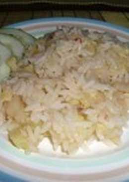 Молочно-рисовая каша с кабачком
