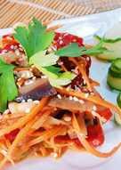 Кабачки с овощами по-корейски