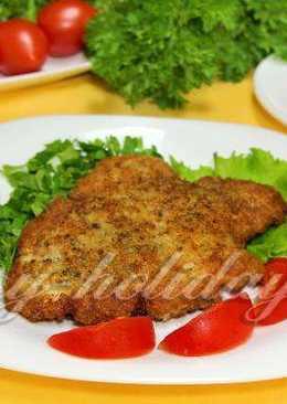 Рецепт жареного мяса в сухарях