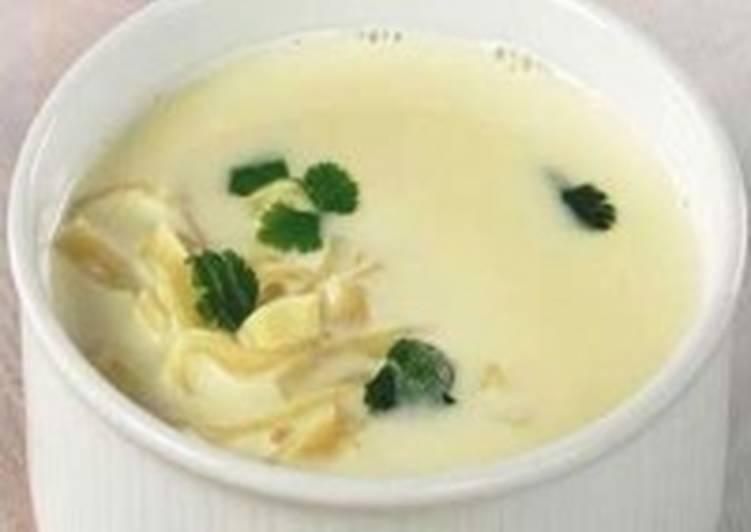 Молочный суп-пюре с молодыми овощами