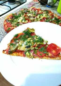 Пицца на лаваше🍕 на скорую руку👍