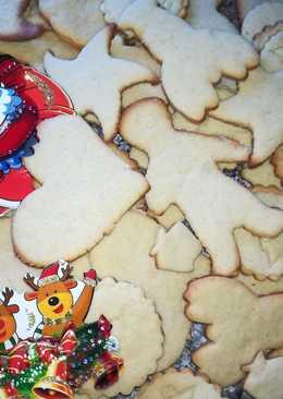Рождественское печенье с очень простыми ингредиентами