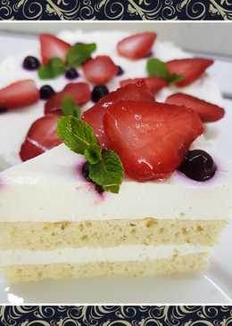"""Пп-торт с """"правильными"""" взбитыми сливками"""