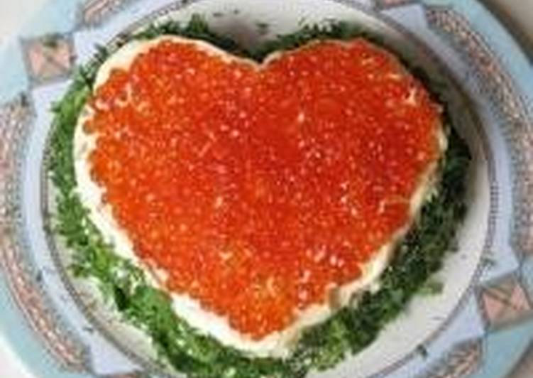Салат сердце