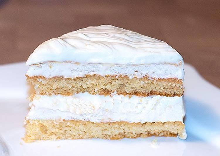 Быстрый рецепт чудесного лимонного Новогоднего торта