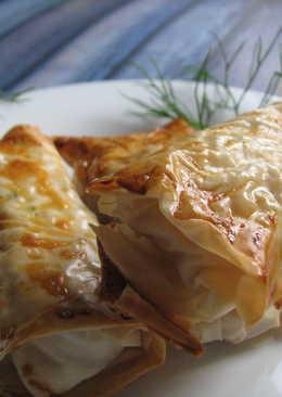 Пирожки с куриным фаршем и сливочным сыром