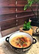 Овощной суп на мясном бульоне #непп