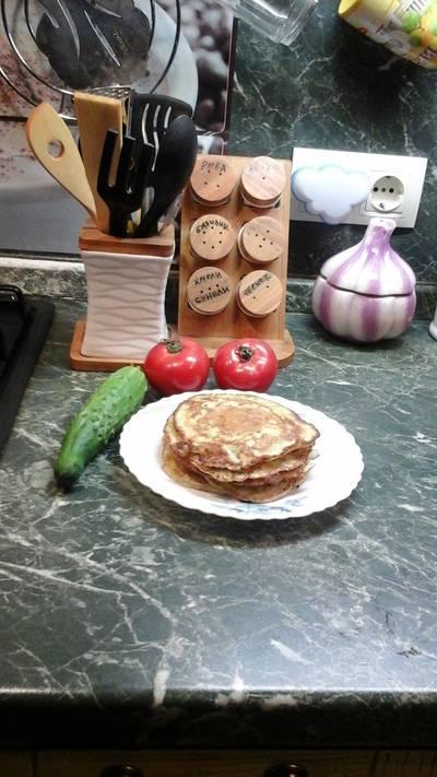 Оладьи из кабачков с плавленным сыром