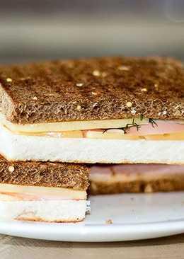 Оригинальный бутерброд Черное - Белое за пару минут