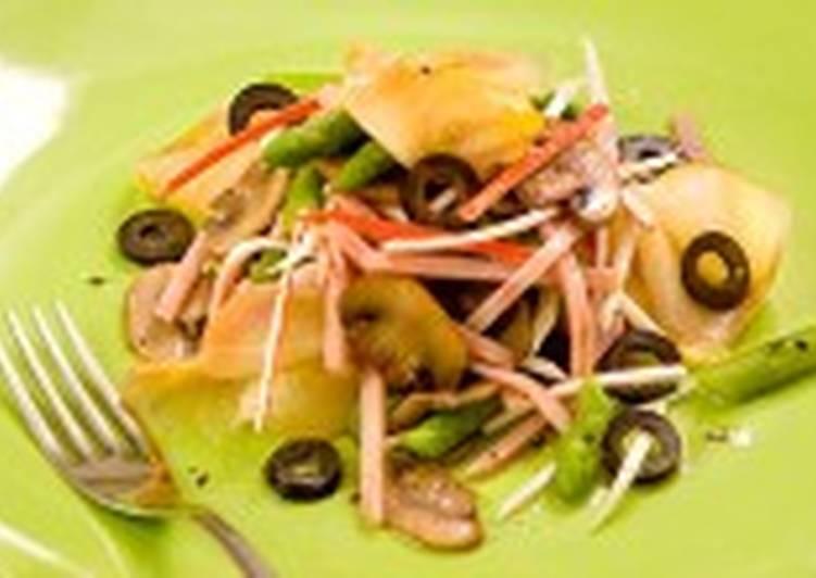 рецепт салат с осетриной