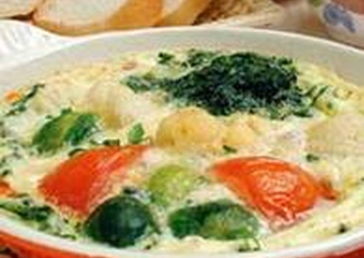 Рецепт омлета с овощами