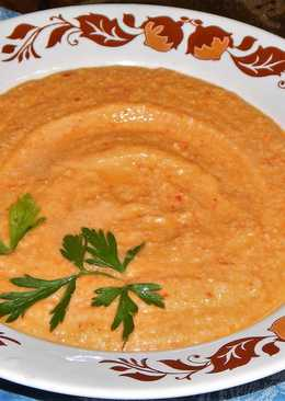 Суп-пюре из кабачка и куриного фарша