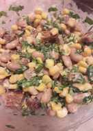 Фасолевый салат за минутку
