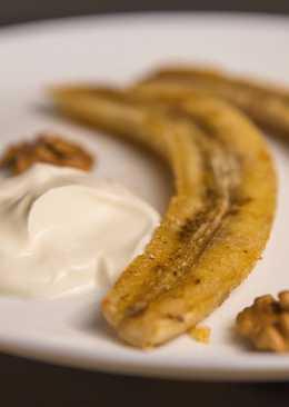 Бананы, запеченные с медом и корицей