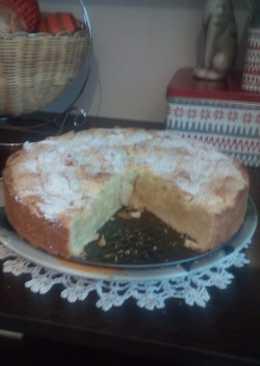 Нежный песочный пирог с яблоками